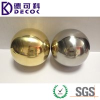 Shiny Polished Decorative Ornament Hollow Steel Ball