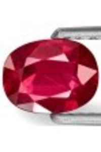 Dazzling Rich Vivid Pinkish Red Eye Clean Ruby Gemstone
