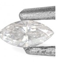 Marquise Shaped Brilliant Cut White Diamond