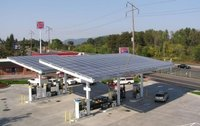 Solar Powered Petrol Pump