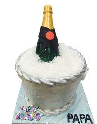 Silver Bucket Cake