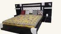 Stylish Wooden Double Bed