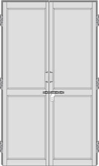 Double Leaf Panel Pvc Doors