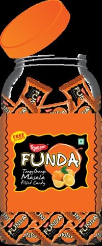 Funda Orange Masala Filled Candy