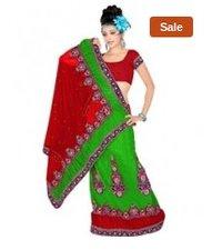 c9458408f8955 Designer Fashion Embroidered Multi-Color Saree