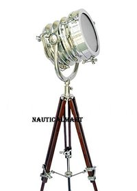 Chrome Search Light With Tripod Stand