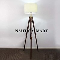 Tripod Floor Lamp With White Shade