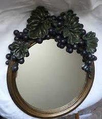 Decorative Leaf Design Wall Mirror