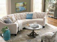 C Shaped Leatherite Sofa