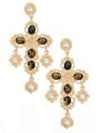 Imperial Cross Earrings Black