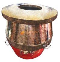 Brass Round Tandoor Gas Charcoal