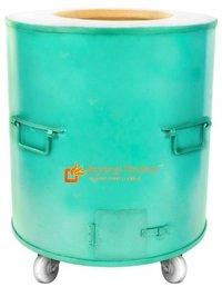 Mild Steel Round Drum Tandoor Catering Gas Charcoal