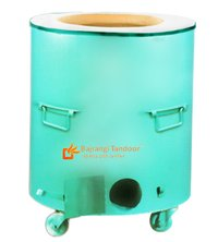 Mild Steel Round Drum Tandoor Gas Charcoal