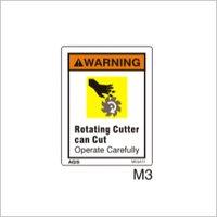 Finest Quality Carbide Tip Warning Label