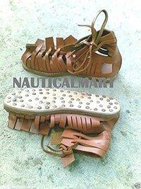 Brown Leather Medieval Sandal