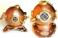 Helmet Copper Finish Antique Brass Divers Helmet