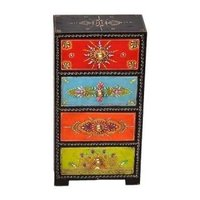 Handcrafted Wooden Hand Painted Drawer