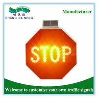 Warning Effect Solar Led Traffic Signal