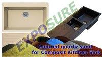 Colored Quartz Sand For Composite Kitchen Sink