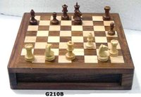 Portable Wooden Chess Board Set