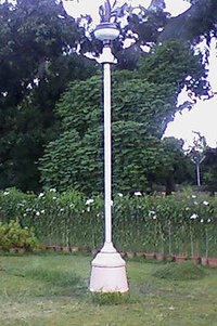 Garden Light Post With Speaker