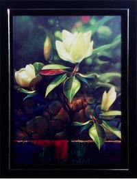 Decorative Floral Painting With Frame