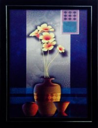 Floral Design Painting With Frame