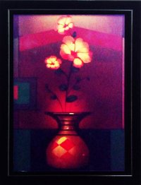 Floral Painting With Frame