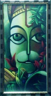 Hanuman Face Painting