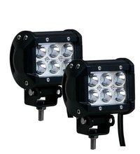 1400 LM Mini 6 Inch 18W 6 x 3W Car and Bike LED Light