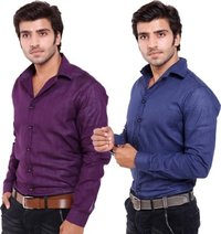 Men Casual Blue Shirts