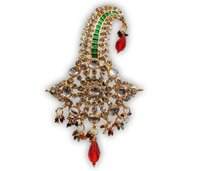Feather Kalangi Wedding Earrings