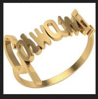 Personalized Name Rings