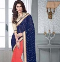 Blue Color Designer Sarees (Wa0029)