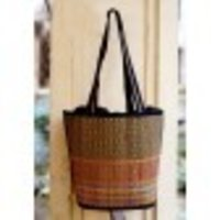 Black Mat Handcrafted Bag Basket