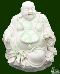 Marble Laughing Buddha Statue