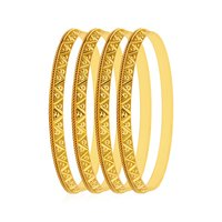 Jewels Galaxy Designer Traditional Gold Plated Bangles Set Of 4