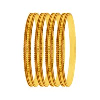 Jewels Galaxy Traditional Gold Plated Bangles Set Of 4