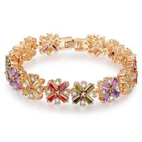 Swiss Cubic Zirconia Gold Plated Diamond Strand Bracelet