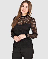 Black Lace Women'S Blouse