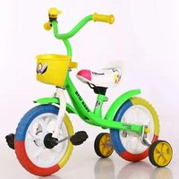 Plastic Material And Ride Power Child Tricycle