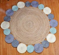 Multi Color Round Jute Rugs