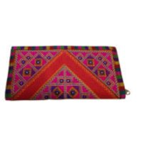 Ethnics Traditional Kutch Handicraft Red Color Border design Kutch Purse