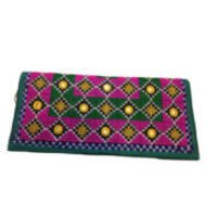 Geometric Fusion With Traditional Kutch Handicrafts Embroidery Mirror Work