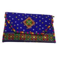 Handicraft Blue Color Handbag Woman Purse Kutch Style Sling Bag