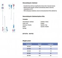 Hemodialysis Catheterization Kits And Disposable Pressure Transducers