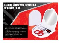 Folding Mirror With Sewing Kit D Shape