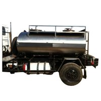 Stainless Steel Mounted Water Tank Trailer