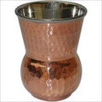 Copper Metal Water Glass