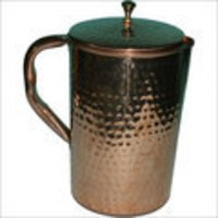 Hammered Copper Metal Jug